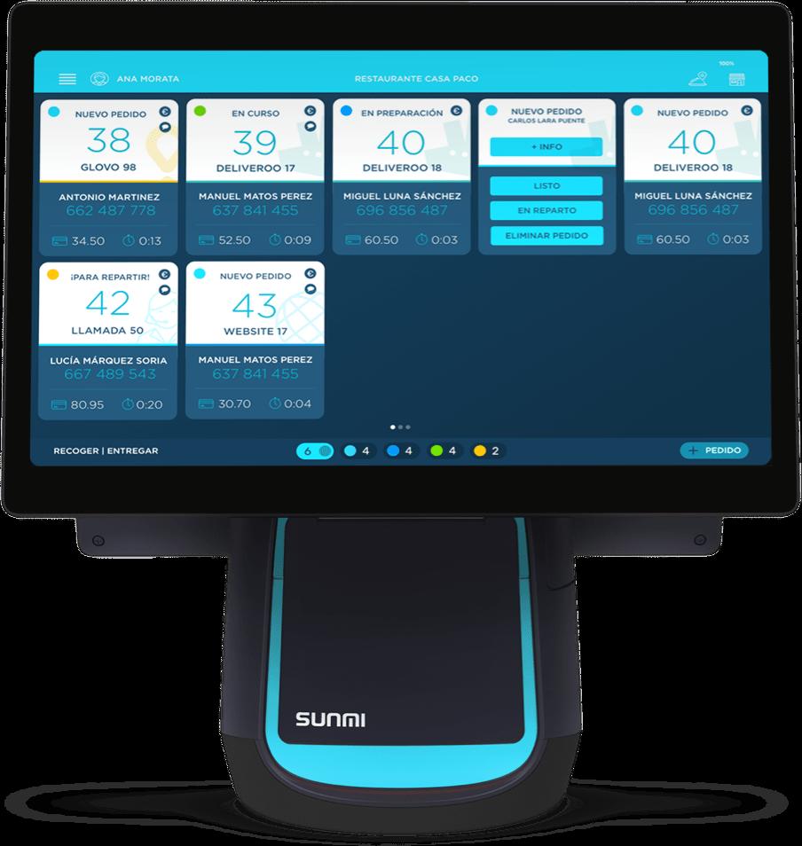TPV-Hostelería-Software-Hostelería-Ticksy-sunmi